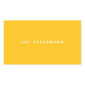 Tarjeta de visita llana amarilla brillante
