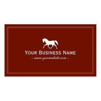 Tarjeta de visita llana simple del caballo (roja)