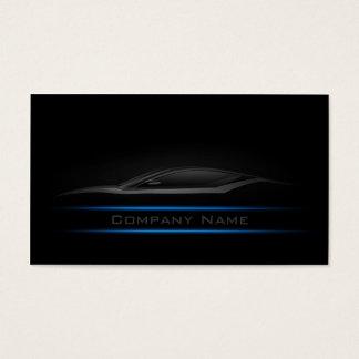 Tarjeta de visita llana simple del coche de Blue