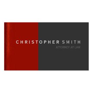Tarjeta de visita llana simple gris roja moderna