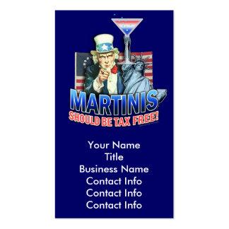 Tarjeta de visita - los martinis deben ser exentos