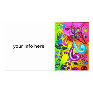 tarjeta de visita mágica de la seta del hippie