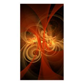 Tarjeta de visita mágica del arte abstracto de la