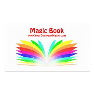 Tarjeta de visita mágica del libro