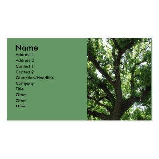 Tarjeta de visita majestuosa del árbol