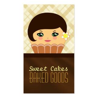 Tarjeta de visita marrón de la panadería del