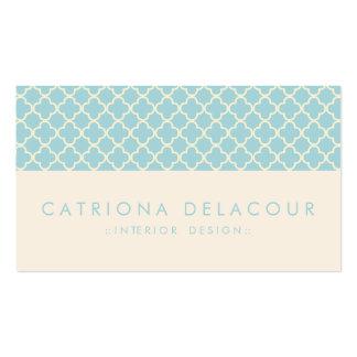 Tarjeta de visita marroquí azul y de marfil elegan