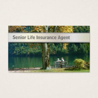 Tarjeta de visita mayor del seguro de vida de la c