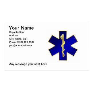 Tarjeta de visita médica