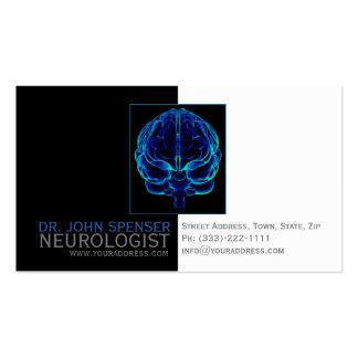 Tarjeta de visita médica de los cerebros azules