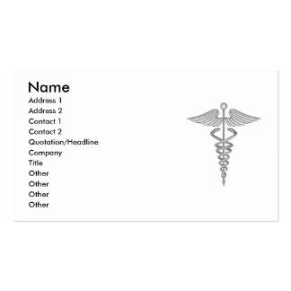 Tarjeta de visita médica del caduceo
