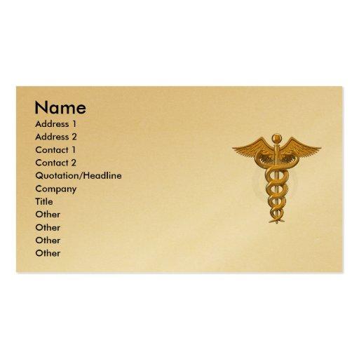 Tarjeta de visita médica del símbolo