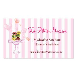 Tarjeta de visita menuda de Macaron del La