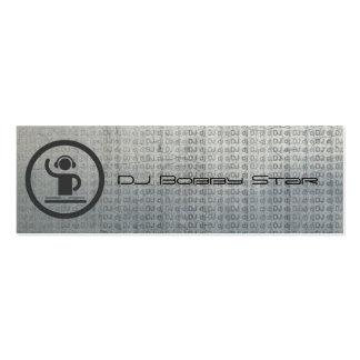 Tarjeta de visita metálica del icono fresco de DJ
