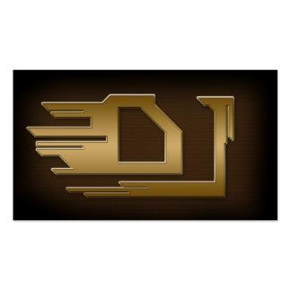Tarjeta de visita metálica del oro fresco de DJ