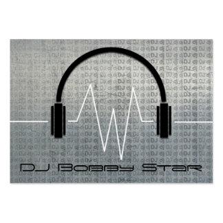 Tarjeta de visita metálica fresca de DJ