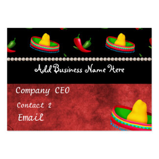 Tarjeta de visita MEXICANA de RESTAURANTE
