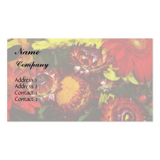 Tarjeta de visita mezclada de las flores