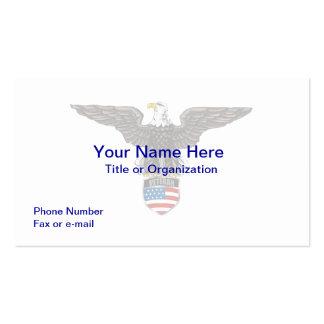 Tarjeta de visita militar de Eagle del veterano