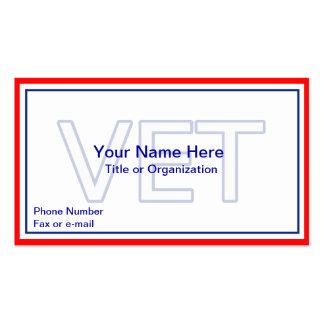 Tarjeta de visita militar del veterano