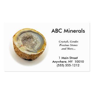 Tarjeta de visita mineral de la tienda