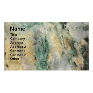 Tarjeta de visita mineral de Mariposite