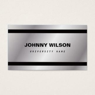 Tarjeta de visita minimalista de plata del