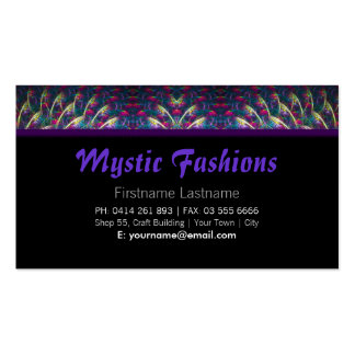 Tarjeta de visita mística de moda