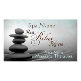Tarjeta de visita mística del terapeuta del masaje