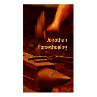Tarjeta de visita moderna de Horseshoeing