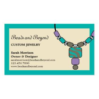 Tarjeta de visita moderna de la joyería del collar