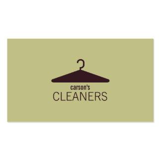 Tarjeta de visita moderna de la limpieza en seco
