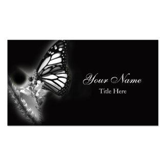 Tarjeta de visita moderna de la mariposa