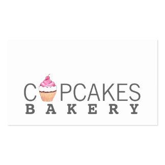 Tarjeta de visita moderna de la panadería de la ma