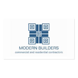 Tarjeta de visita moderna de Minimalistic, azul re