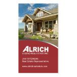 Tarjeta de visita moderna del agente inmobiliario