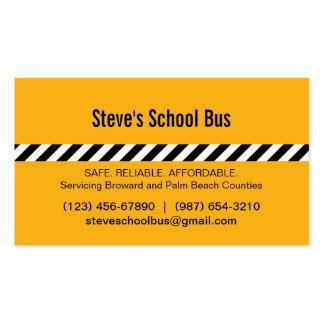 Tarjeta de visita moderna del autobús escolar de l