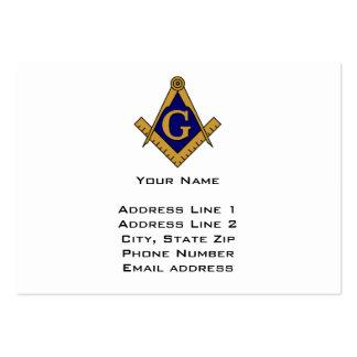 Tarjeta de visita moderna del Freemason del estilo