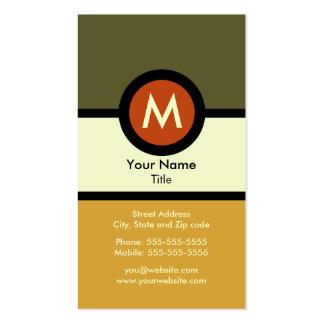 Tarjeta de visita moderna del monograma