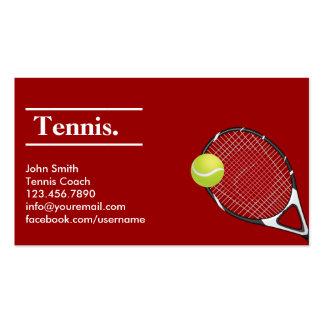 Tarjeta de visita moderna del tenis de la arcilla