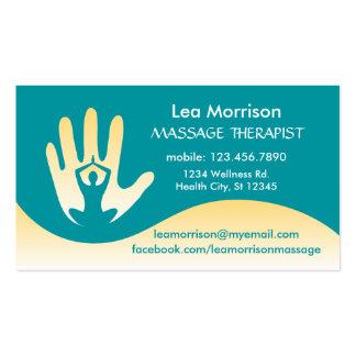 Tarjeta de visita moderna del terapeuta del masaje