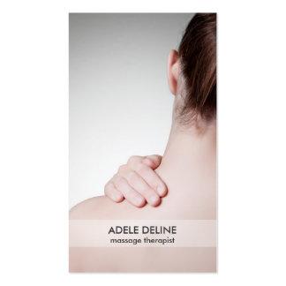 Tarjeta de visita moderna del terapeuta del masaje tarjetas de visita