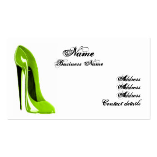 Tarjeta de visita moderna del zapato del estilete