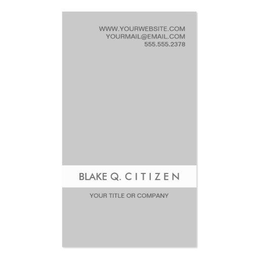 Tarjeta de visita moderna gris clara