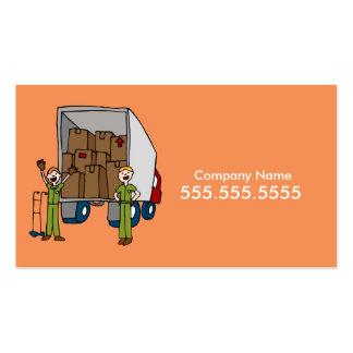 Tarjeta de visita móvil de los hombres del camión