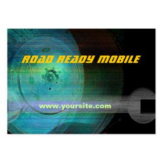 Tarjeta de visita móvil lista del camino