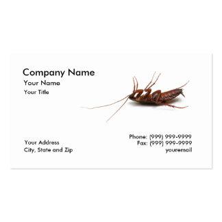 Tarjeta de visita muerta de la cucaracha