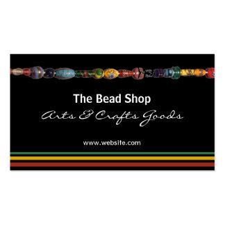 Tarjeta de visita multicolora de la tienda de la g
