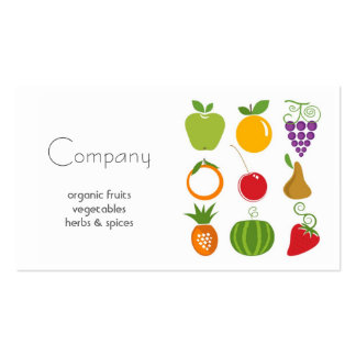 Tarjeta de visita natural de la tienda de alimenta