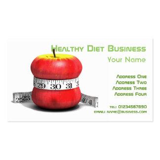Tarjeta de visita natural sana de la dieta